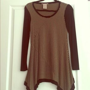 Philosophy stripped tunic top (never worn)